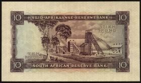 Südafrika / South Africa P.099 10 Pounds 6.11.1957 (Afrikaans) (2/1)
