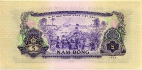 Südvietnam / Viet Nam South P.042a 5 Dong 1966 (1975) (1)