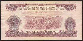 Südvietnam / Viet Nam South Nationale Front P.R6 5 Dong (1963) (1-)