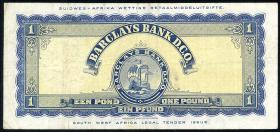 Südwestafrika / Southwest Africa P.05a 1 Pound 1956 (3)