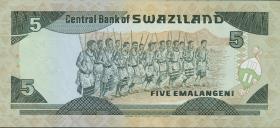 Swasiland / Swaziland P.19b 5 Emalangeni (1994) (1)