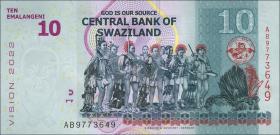 Swasiland / Swaziland P.neu 10 Emalangeni 2015 (2017) (1)