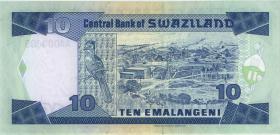 Swasiland / Swaziland P.24a 10 Emalangeni (1995) AA000009 (1)