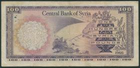Syrien / Syria P.098a 100 Pfund 1966 (3)