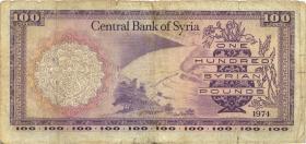 Syrien / Syria P.098d 100 Pounds 1974 (4)