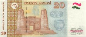 Tadschikistan / Tajikistan P.17 20 Somoni 1999 (2000) (1)