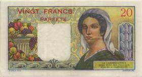 Tahiti P.21c 20 Francs (1951-63) (2)