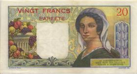 Tahiti P.21c 20 Francs (1963) (3+)