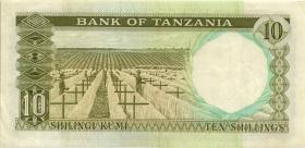 Tansania / Tanzania P.02a 10 Shillings (1966) (3+)
