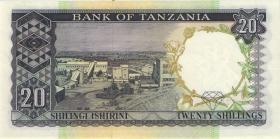 Tansania / Tanzania P.03b 20 Shillings (1966) (1)