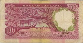 Tansania / Tanzania P.05b 100 Shillings (1966) (3-)