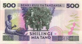 Tansania / Tanzania P.21c 500 Shillings (1989) (1)