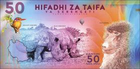 Tansania / Tanzania 50 Shillings 2018 Serengeti Nationalpark (1)