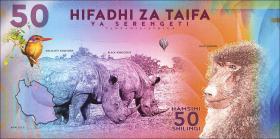 Tansania / Tanzania 50 Shillings 2018 Serengeti Nationalpark (1)
