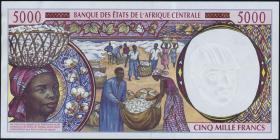 Zentral-Afrikanische-Staaten / Central African StatesP.604Pe 5000 Francs 1999 (1-)