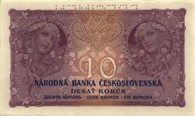 Tschechoslowakei / Czechoslovakia P.20s 10 Kronen 1927 Specimen (1)
