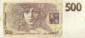Tschechien / Czech Republic P.07 500 Kronen 1993 (3