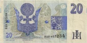 Tschechien / Czech Republic P.10b 20 Kronen 1994 (3)