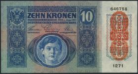 Tschechoslowakei / Czechoslovakia P.01a 10 Kronen 1919 (1)