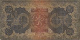 Tschechoslowakei / Czechoslovakia P.15 5 Kronen 1921 (4)