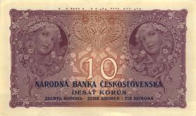 Tschechoslowakei / Czechoslovakia P.20s 10 Kronen 1927 Specimen (2)