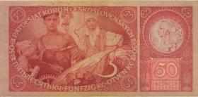 Tschechoslowakei / Czechoslovakia P.22a 50 Kronen 1929 (2)