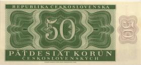Tschechoslowakei / Czechoslovakia P.71bs2 50 Kronen 1950 Specimen (1)