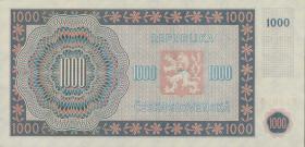 Tschechoslowakei / Czechoslovakia P.74c 1000 Kronen 1945 (1)
