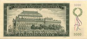 Tschechoslowakei / Czechoslovakia P.75s2 5000 Kronen 1945 Specimen (1/1-)