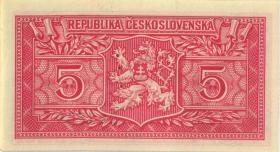 Tschechoslowakei / Czechoslovakia P.68a 5 Korun 1949 (1)