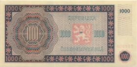 Tschechoslowakei / Czechoslovakia P.74s 1000 Kronen 1945 Specimen (1)