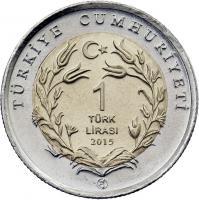 Türkei 1 Lira 2015 Angorakatze