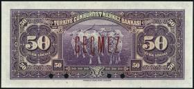 Türkei / Turkey P.142As 50 Lira L. 1930 (1942) Specimen (1)