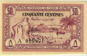 Tunesien / Tunisia P.54 50 Centimes 1943 (1/1-)