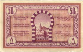 Tunesien / Tunisia P.54 50 Centimes 1943 (3/2)