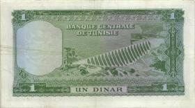 Tunesien / Tunisia P.58 1 Dinar o.D. (3)