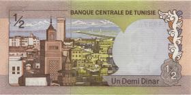 Tunesien / Tunisia P.66 1/2 Dinar 1972 (1)