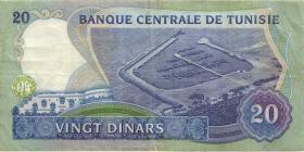 Tunesien / Tunisia P.81 20 Dinars 1983 (3)