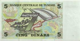 Tunesien / Tunisia P.86 5 Dinars 1993 (2)