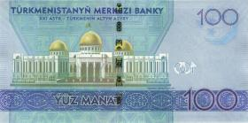 Turkmenistan 100 Manat 2020 (1) Gedenkbanknote