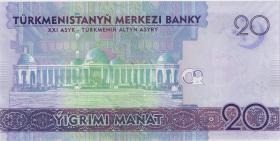 Turkmenistan 20 Manat 2020 (1) Gedenkbanknote