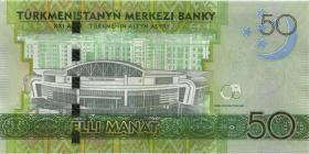 Turkmenistan P.40 50 Manat 2017 Gedenkbanknote (1)