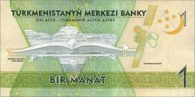 Turkmenistan P.neu 1 - 100 Manat 2017 (1) Gedenkausgabe