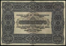 Ungarn / Hungary P.069 25000 Kronen 1922 (3-)