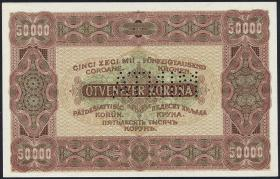 Ungarn / Hungary P.071S 50000 Kronen 1923 Specimen (1)