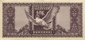 Ungarn / Hungary P.129 10 Mio. Milpengö 1946 (2)