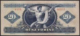 Ungarn / Hungary P.165 20 Forint 1949 (1)