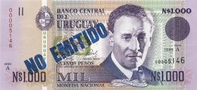 Uruguay P.67A-73 1000-500.000 Pesos 1989-92 (2) 9 Werte