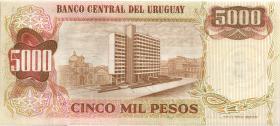 Uruguay P.57 5 Nuevos Pesos (1975) auf 5000 Pesos (1)