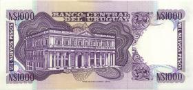 Uruguay P.64Ab 1000 Nuevos Pesos (1992) (1)
